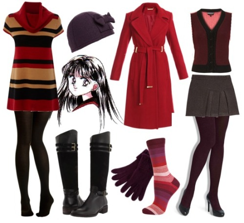 Sailor Mars/Hino Rei Fall style inspiration.  + more sets