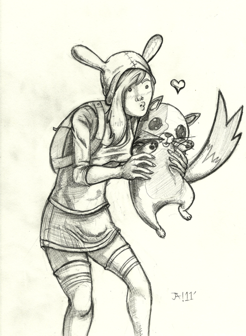 Fionna and Cake from the AT gender bender episode :D