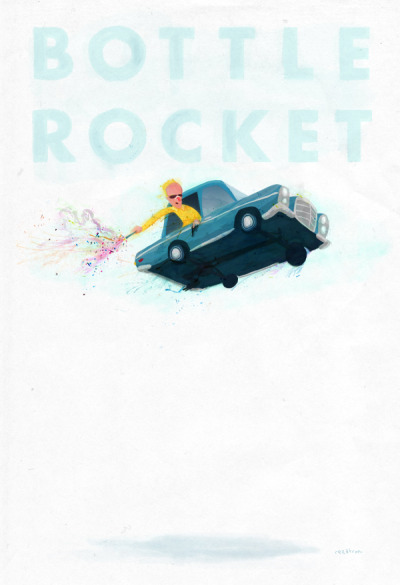 rezatron:  rezatron - bottle rocket poster 13x19 for spoke arts' bad dads 2 - tribute to the films of wes anderson