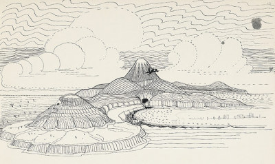 """Smaug Flies Around the Lonely Mountain"", from J.R.R. Tolkien's The Hobbit"