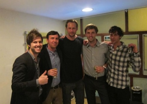 Awesome hang with Alex Skarsgard and friends after show in Rio. Seems finally we have a fan who's taller than us!