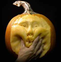 To help kick off the week before Halloween, here are some ridiculous pumpkin carvings by Ray Villafane featured on Flavorwire. Click here for the full slideshow!