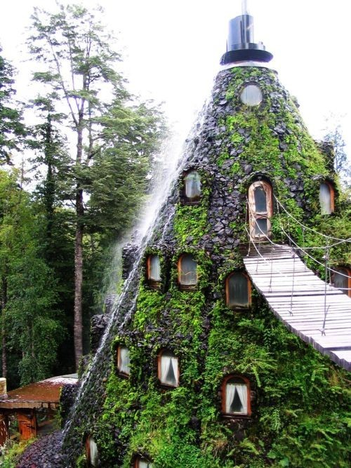 Hotel La Montaña Mágica. Huilo-Huilo, Chile. (via Favorite Places & Spaces)