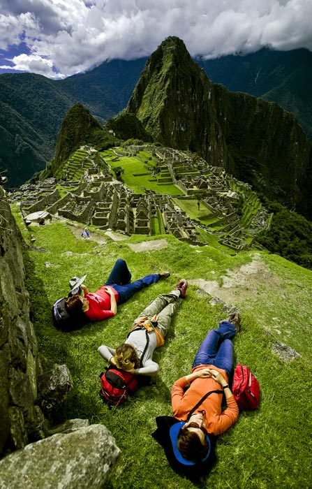 Relaxing above Machu Picchu, Peru (via  a photo from Cusco, South | TrekEarth)