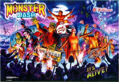 Backglass image from William's Monster Bash pinball table.