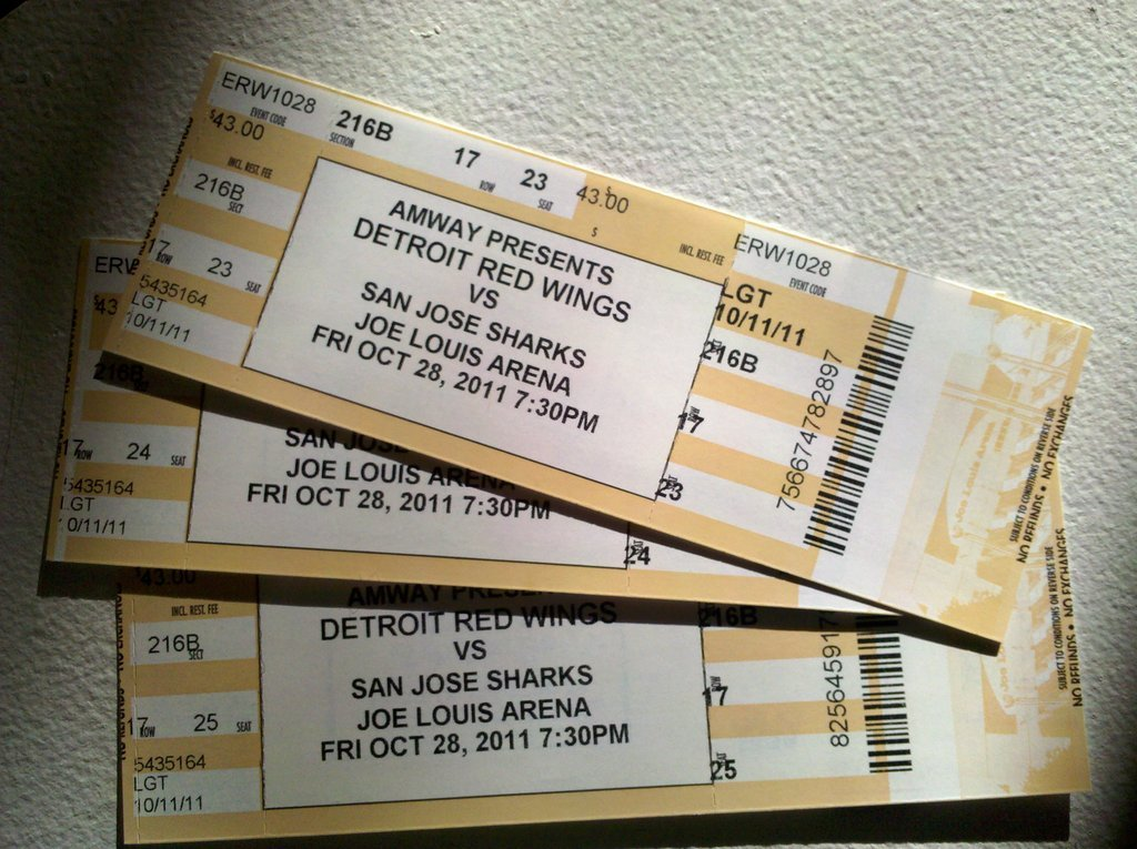 #RedWings tickets arrived today! (Taken with picplz at Love Pad #9 in Westwood, MI.)