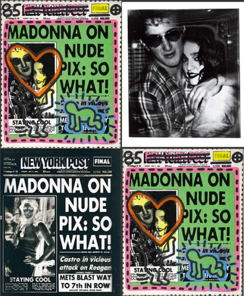Warhol/Haring Wedding Gift to Madonna and Sean Penn - The Process