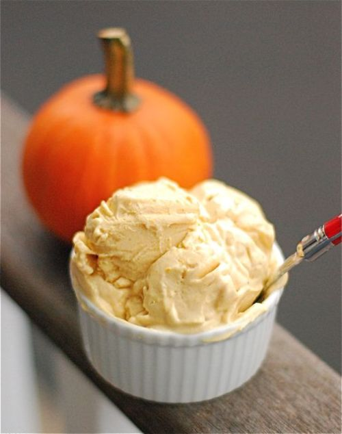 beautifulspoon:  4-Ingredient Homemade Pumpkin Frozen Yogurt from The Family Kitchen.