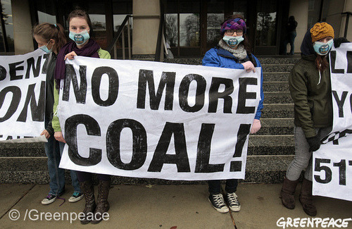 "MSU ""No More Coal"" (by Greenpeace USA 2011)"