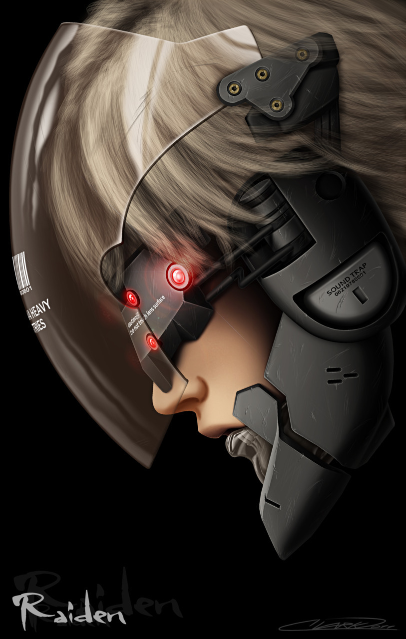 assorted-goodness:  I Am Lightning - Raiden MGS4 by J Clark.