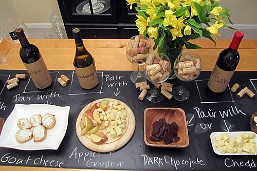 This is a brilliant way to present your wine-food pairings!