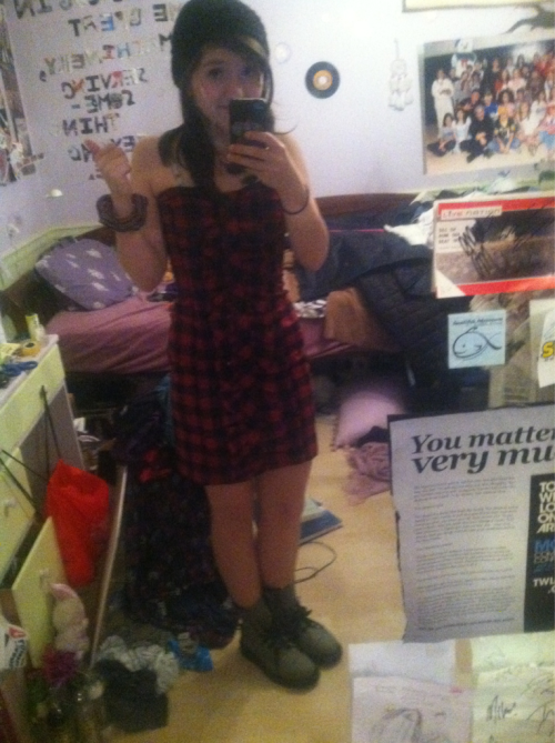 I'm being a lumberjack for Halloween…pardon my messy room!