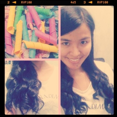 Cute curlers! #CurlyPhinee :) (Taken with instagram)