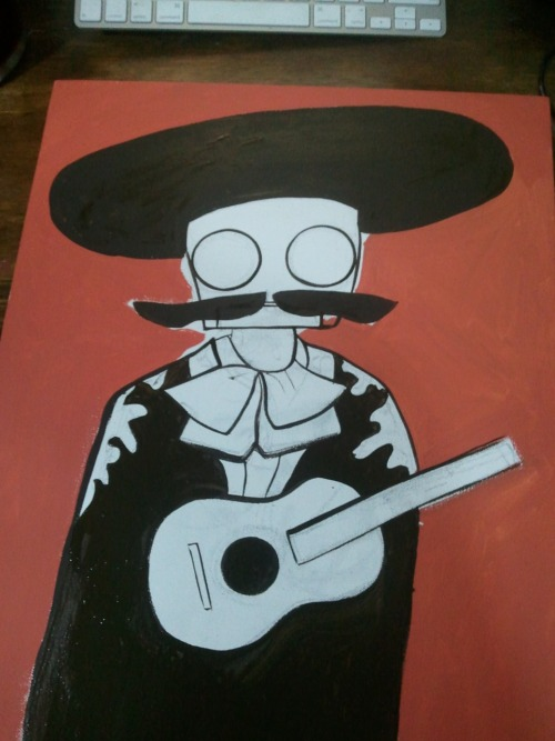 Just another mariachi robot painting in progress