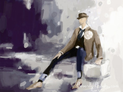 Mens Fashion Illustration - iPad Art