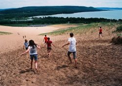 My friends and I on the Sleeping Bear Sand Dunes in northern Michigan. submitted by: ragingelegance, thanks!