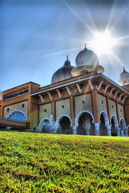 San Jose Gurdwara (Sikh temple) in HDR style.