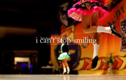 Because when I dance, I can't stop smiling (rawredenrawr).