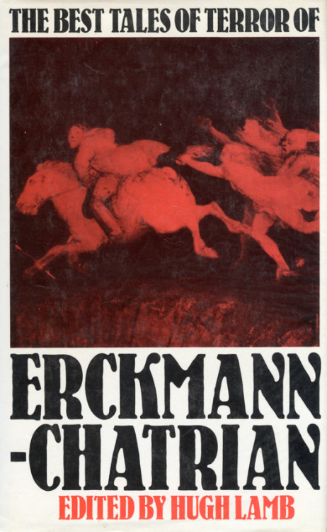 "Both M. R. James and H. P. Lovecraft spoke highly of the weird tales of Erckmann–Chatrian, James writing (in 'Some Remarks on Ghost Stories') that 'I should feel myself ungrateful if I did not pay a tribute to the supernatural tales of Erckmann–Chatrian. The blend of French with German in them, comparable to the French–Irish blend in Le Fanu, has produced some quite first-rate romances of this kind. [Some of their stories] have for years delighted and alarmed me. It is high time that they were made more accessible than they are.'  Emile Erckmann (1822–99) and Louis Alexandre Chatrian (1826–90) began their writing partnership in the 1840s, and continued working together—producing plays, novels, and short stories—until the year before Chatrian's death. At the height of their powers they were known as 'the twins', and their works proved popular in England, where they began appearing (in translation) as early as 1865. After their deaths, however, they slipped into obscurity; and apart from the odd tale reprinted in anthologies, and the ill-fated collection of their weird tales published by Millington in 1981, their work has remained difficult to find. In The Invisible Eye, Hugh Lamb has collected together the finest weird tales by Erckmann–Chatrian, adding several stories to those which he assembled for the Millington volume (the fate of which he discusses in the appendix to the present work). The world of which Erckmann–Chatrian wrote has long since vanished; a world of noblemen and peasants, enchanted castles and mysterious woods, haunted by witches, monsters, curses, and spells. It is a world brought to life by the vivid imaginations of the authors, and presented here for the enjoyment of modern readers who wish to be transported to the middle of the nineteenth century: a time when, it seems, anything could happen—and sometimes did.  —Publisher's description for Hugh Lamb's anthology The Invisible Eye, an expanded edition of the ""ill-fated"" Best Tales of Terror of Erckmann-Chatrian (pictured here). Best Tales includes these 10 stories: The Crab Spider, The Murderer's Violin, The Invisible Eye, The Child Stealer, My Inheritance, The Mysterious Sketch, The Owl's Ear, The Three Souls, The Wild Huntsman, The Man Wolf.  The Ash-Tree volume—I do not own one of the 500 copies printed—adds The White and the Black, The Burgomaster in Bottle, Lex Talionis, A Legend of Marseilles, Cousin Elof's Dream, and The Citizen's Watch."