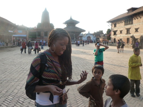 Getting hustled by some kid in Bhaktapur.