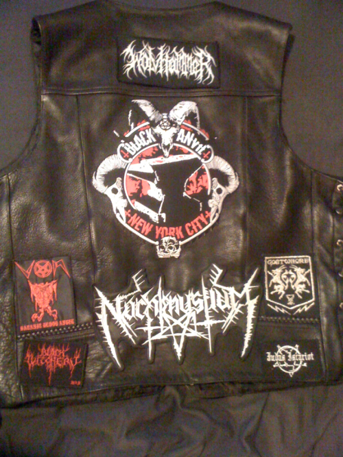 I will get this sewn up this week. it will be my american black metal vest.