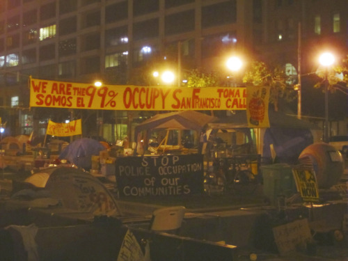 It's hard to break away from OccupySF!  I wish I could be Livestreaming 24/7 from the  camp, but I had to come home and tend to my B/99  (before 99%) life..I  had to do all those mundane things like shopping, doing laundry,  getting a tail light for my car, maiing out my orders for my  business..etc., etc..plus I have photos to edit and post!! If you are not supporting your local Occupy movement, you are missing out!! Choose from all the worldwide Livestreams: occupystream.com Find an OCCUPATION near you: occupytogether.org
