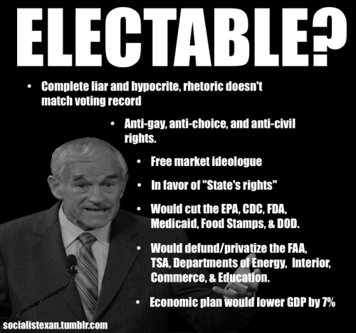 Ron Paul - Electable?
