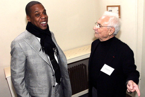 awesomepeoplehangingouttogether:  Jay-Z and Frank Gehry