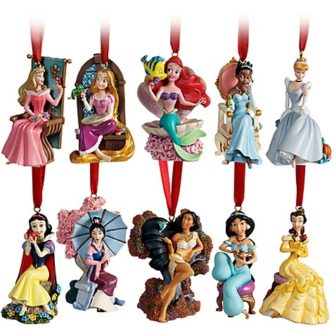 New Disney Princess Christmas Ornament Set!