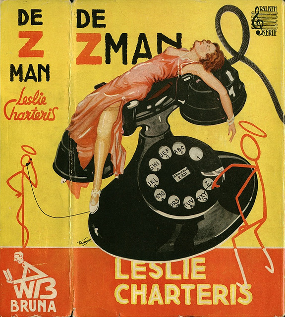 Dutch detective by Leslie Charteris, Cover by Dutch artist Rein van Looij ps. of Tanner.