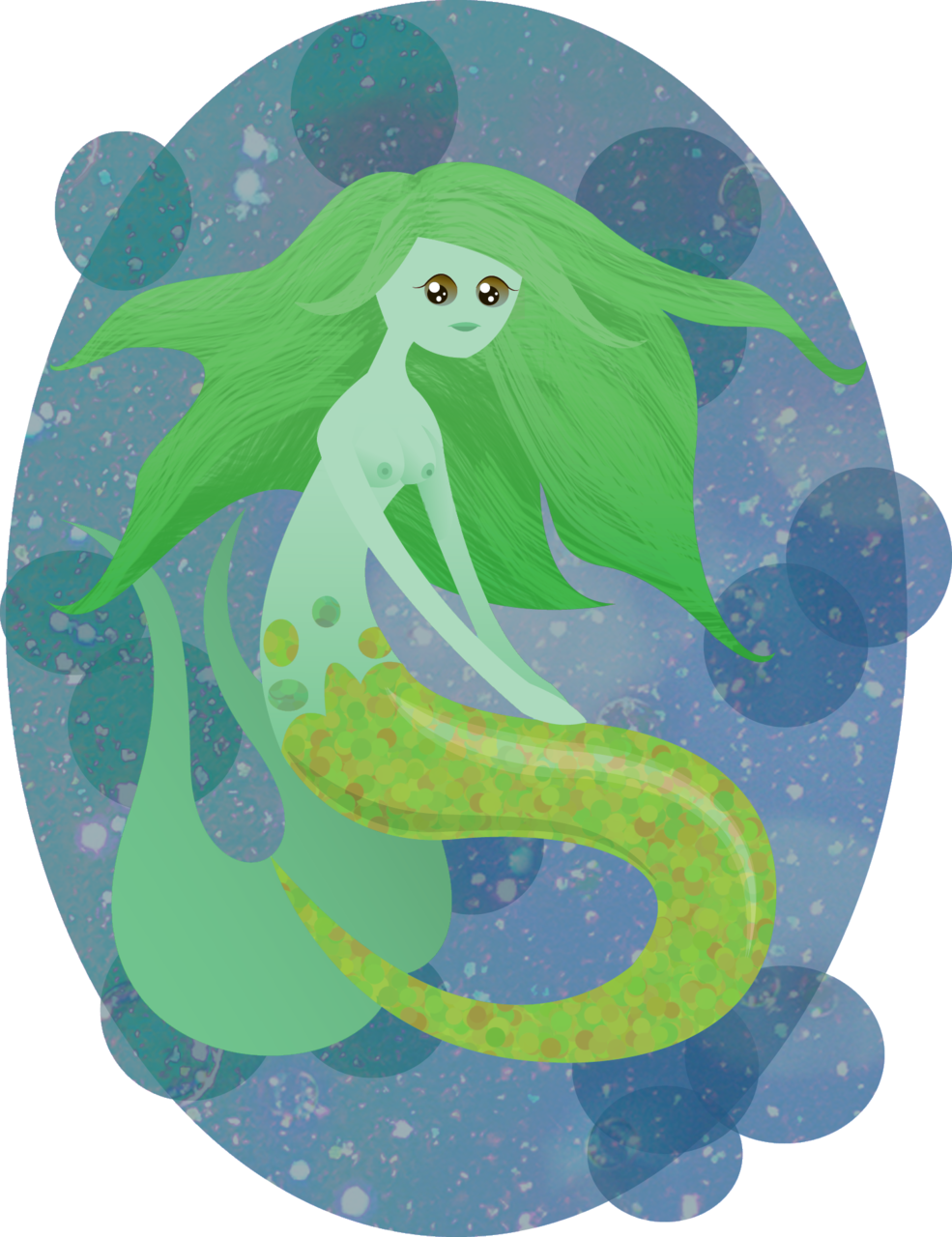 Here's another creepy mermaid XD