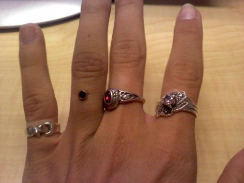 Yes that's my ring finger. April, 2010. (Still my favourite piercing I have)