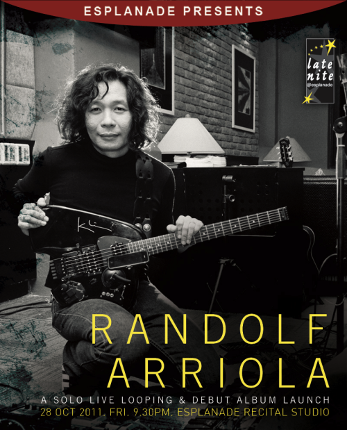 Live-looping extraordinaire Randolf Arriola launches his debut album C.C.C.D. this Friday. Can't wait!