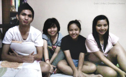 GAMBLING MATES. :)) :p In the Photo: Ervin Maca, Christine Argante, Roxine Florentino Taken: October 24, 2011