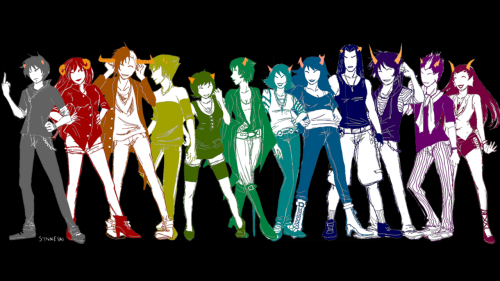 synnesai:  Oh god *U*  jemeri made this wallpaper of my fashion thing ahh thank you i'm glad you like it so much ;u; she colored it too OUO; ;u; you can see them all in their original: [pt1][pt2][pt3] [bigger]