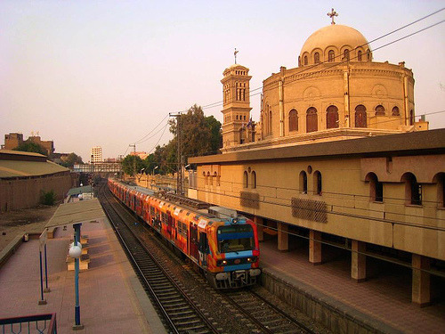 "St. George's Church, Cairo, Egypt ""A train leaving Mar Girgis Station in Old Cairo, Egypt"" By: Bakar_88"
