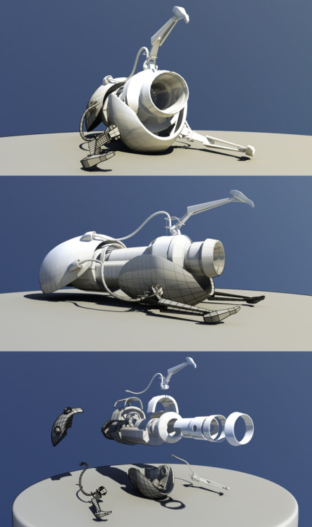 Modelled the infamous Portal Gun. Aww yeah. © Nick Mertens