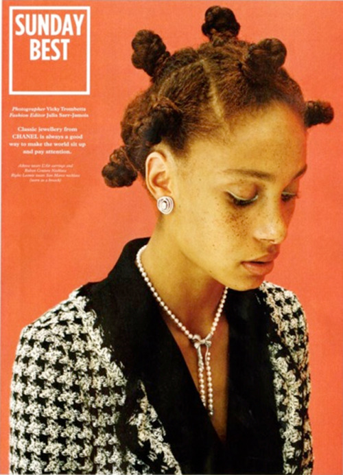mariankihogo:  Red hair and freckles. Adowa Aboah for Wonderland Magazine as styled by Julia Sarr-Jamois