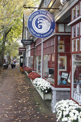 Shops on Nantucket Island, Massachusetts (by Out of the Grey)