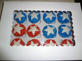 "Sarah B. is one of our ""loyal locals"" here in NC.  She made these cute cupcakes and was nice enough to post the pic for us to see.  Thanks Sarah!"