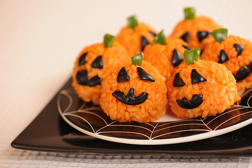 This must be Halloween on Guam. heehee, red rice!