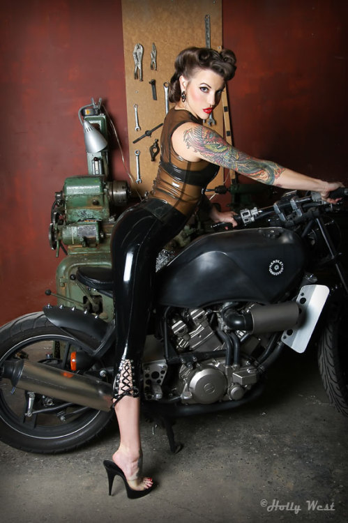 Motorcycles & Mayhem - photo by Holly West / MUAH by Angel Jagger