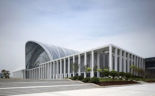 Tianjin West Railway by Gerkan, Marg and Partners Architects