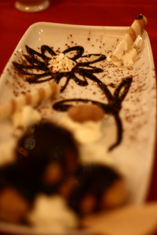 I had a pretty flower on my birthday dinner dessert, nomnom!
