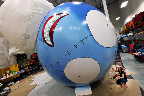 laughingsquid:  Tim Burton Creates Balloon Float For Macy's Thanksgiving Day Parade