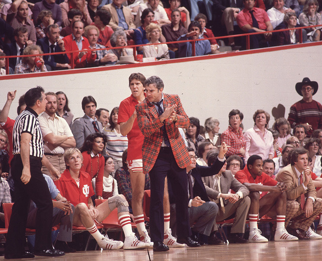 Today is Bobby Knight's 71st birthday. In this 1980 photo, the former Hoosiers coach barks at a referee during a game against Kentucky. Below are some stories from the SI Vault about the coaching legend. (Heinz Kluetmeier/SI) SI VAULT: Cooler, calmer Knight has Indiana rolling (2.19.73)SI VAULT: Knight, The Rabbit Hunter, stalks the insignificant (1.26.81)SI VAULT: For coarseness, Indiana's Knight can't be beat (5.9.88)