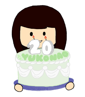 cheska-doodle:  SUPER BELATED HAPPY BIRTHDAY YUKONAO sorry for the very late doodle, I've got problem with photoshop and paint tool sai.  YEAAYYY! THANK YOU SOOOOOOOOOOOOOO MUCH! THIS IS VEEERY CUTE!