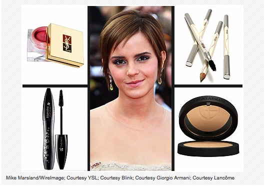 """I am so pale and English.""- Emma Watson, talking about the makeup she uses to look, well, less pale and English."