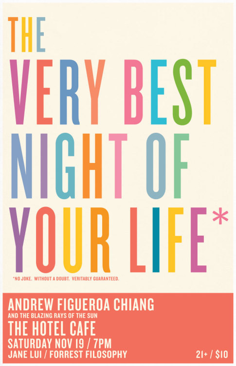 THE VERY BEST NIGHT OF YOUR LIFE  No Joke.  Without A Doubt.  Veritably Guaranteed.