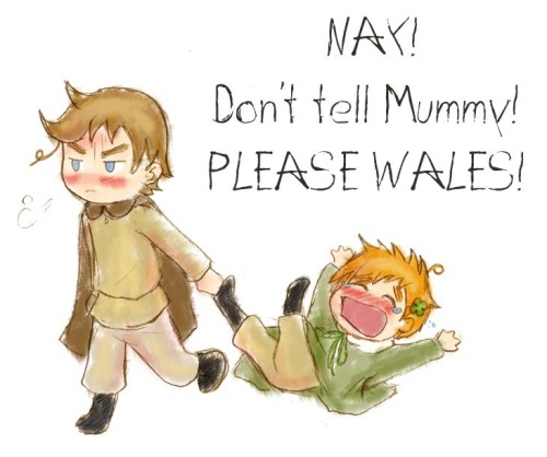 I see Chibi Wales as the responsible one for some reason…..and it seems poor little Chibi Ireland is in trouble for some reason… though I don't have a clue as to what he has done now ;)